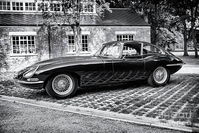 Photograph - 1965 E Type Monochrome by Tim Gainey