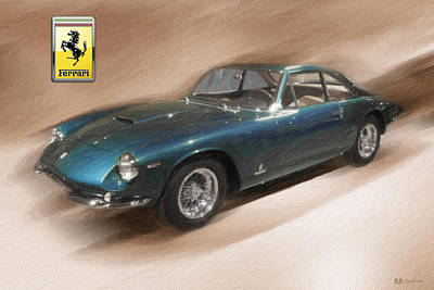 Digital Art - 1965 Ferrari 500 Superfast With 3 D Badge  by Serge Averbukh