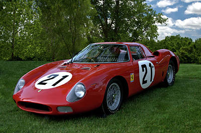 Photograph - 1965 Ferrari V12 250 Lm by Tim McCullough