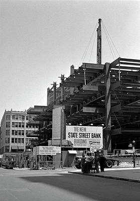 Photograph - 1965 Financial District Construction Boston by Historic Image