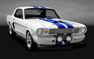Photograph - 1965 Ford Cobra Mustang Gt-350  -  1965fordmustanggt350gry170826 by Frank J Benz