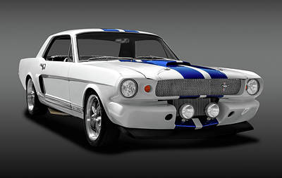 Photograph - 1965 Ford Cobra Mustang Gt-350  -  1965gt350mustangfa170825 by Frank J Benz