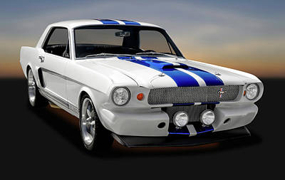 Photograph - 1965 Ford Cobra Mustang Gt-350   -   1965mustangcobragt350170826 by Frank J Benz