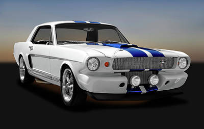 Photograph - 1965 Ford Cobra Mustang Gt-350  -  1965mustanggt350170825 by Frank J Benz