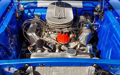 Photograph - 1965 Ford Mustang 427 Engine Compartment by Frank J Benz
