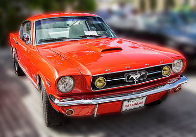 Photograph - 1965 Ford Mustang Fastback by Bob Slitzan