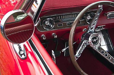 Photograph - 1965 Ford Mustang Fastback Dash by Glenn Gordon