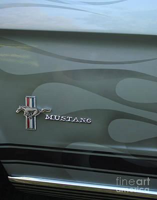 1965 Ford Mustang Ghost Flames Print by Peter Piatt