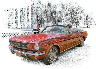 Photograph - 1965 Ford Mustang  by Susan Rissi Tregoning