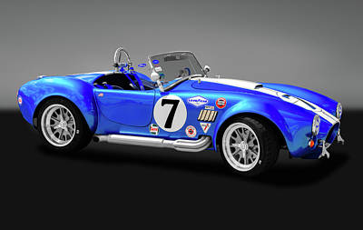 Photograph - 1965 Ford Shelby Cobra  -  1965shelby427cobragry170950 by Frank J Benz
