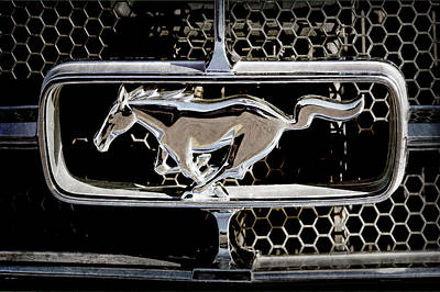 1965 Ford Shelby Mustang Grille Emblem -0589ac Art Print by Jill Reger