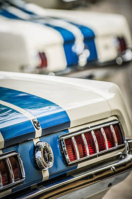 Art Print featuring the photograph 1965 Ford Shelby Mustang Gt 350 Taillight -1037c by Jill Reger