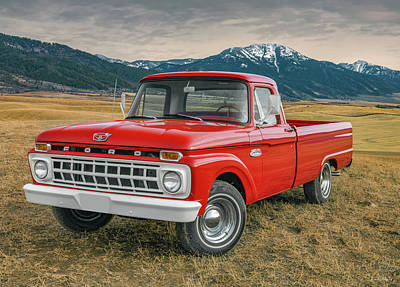 Photograph - 1965 Ford Truck 2 by Leland D Howard