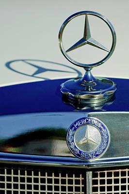 Hoodies Photograph - 1965 Mercedes 220 Se Cabriolet Hood Ornament by Jill Reger