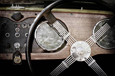 Morgan Photograph - 1965 Morgan Plus 4 Steering Wheel -1768ac by Jill Reger