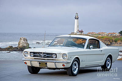 Classic Christmas Movies - 1965 Mustang 2 plus 2 Fastback by Dave Koontz