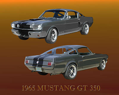 Photograph - 1965 Mustang G T 350 Fastback by Jack Pumphrey