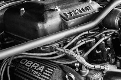 Photograph - 1965 Mustang Shelby Prototype Engine -0026bw by Jill Reger