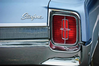 Photograph - 1965 Oldsmobile Starfire Taillight Emblem by Jill Reger