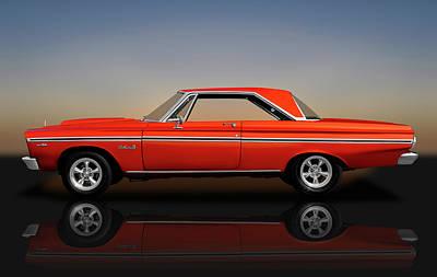 Photograph - 1965 Plymouth Belvedere II Hardtop  -  1965plybelvedereiirflct170914 by Frank J Benz