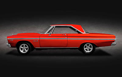 Photograph - 1965 Plymouth Belvedere II Hardtop  -  1965plymouthbelvedereiispttext170914 by Frank J Benz