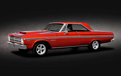 Photograph - 1965 Plymouth Belvedere II Hardtop  -  1965plymouthbelvedereiispttext170926 by Frank J Benz