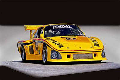 Animal Paintings David Stribbling - 1965 Porsche 935 K Vintage Racecar by Dave Koontz
