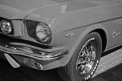 Digital Art - 1965 Red Ford Mustang Classic Car Black And White by Toby McGuire