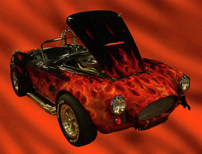 Painting - 1965 Shelby Cobra Digital Oil by Chris Flees