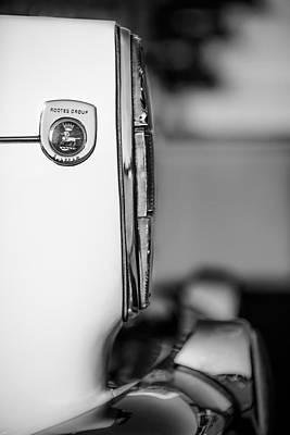 Photograph - 1965 Sunbeam Tiger Taillight Emblem -1009bw by Jill Reger