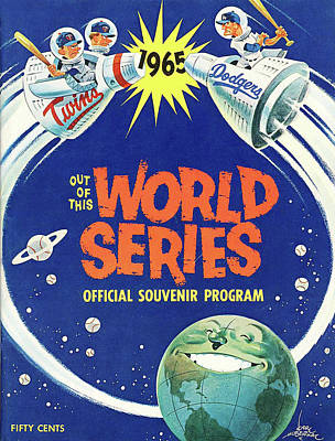 Photograph - 1965 World Series Program by Rospotte Photography