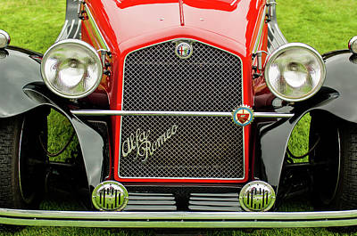 1966 Alfa Romeo Quattro Route 4r Grille Art Print by Jill Reger