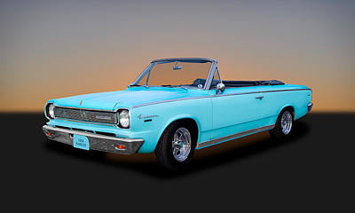 Photograph - 1966 Amc Rambler American 440 Convertible  -  66ram1 by Frank J Benz