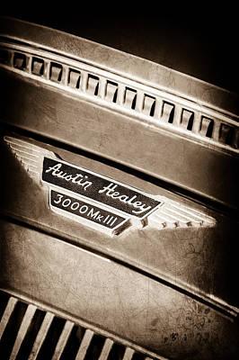 Photograph - 1966 Austin-healey 3000 Mk IIi Bj8 Emblem -1075s by Jill Reger