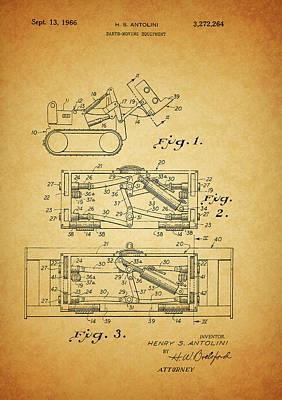 1966 Bulldozer Patent Art Print