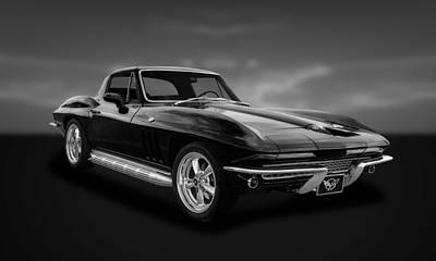 Photograph - 1966 C2 Chevrolet Corvette  -  66vtbw33 by Frank J Benz