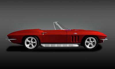 Photograph - 1966 C2 Chevrolet Corvette 427 Convertible  -  1966c2427corvetteconvertible173473 by Frank J Benz