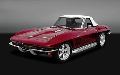 Photograph - 1966 C2 Chevrolet Corvette 427 Convertible   -   1966vette427cvgry170276 by Frank J Benz