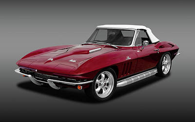 Photograph - 1966 C2 Chevrolet Corvette 427 Convertible  -  66vette427cvfa170276 by Frank J Benz