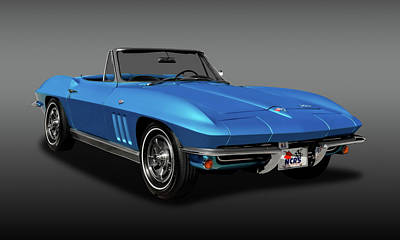 Photograph - 1966 C2 Chevrolet Corvette Convertible  -  66chvetcvfa9539 by Frank J Benz