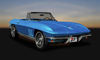 Photograph - 1966 C2 Chevrolet Corvette Convertible  -  66vettecv9539 by Frank J Benz