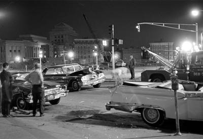 Photograph - 1966 Car Accident Boston by Historic Image