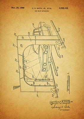 1966 Car Wash Patent Art Print by Dan Sproul