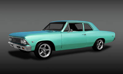 Photograph - 1966 Chevelle 300 Deluxe Sedan  -  1966chevellesedanfa173410 by Frank J Benz