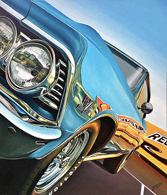 Painting - 1966 Chevelle by Branden Hochstetler
