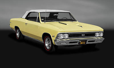 Photograph - 1966 Chevrolet Chevelle Super Sport Ss-396 Convertible  -  1966chevellesupersport396gry183670 by Frank J Benz
