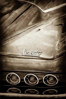 1966 Chevrolet Corvette Taillight Emblem -0176s Print by Jill Reger