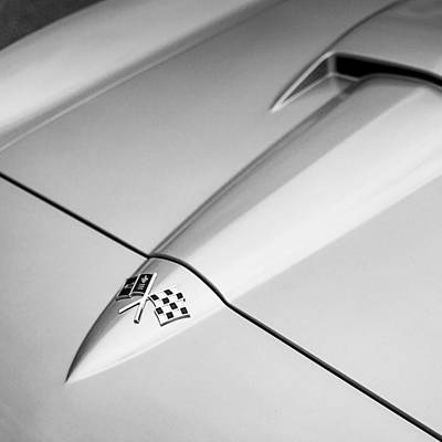 American Cars Photograph - 1966 Corvette Stingray Hood by Jon Woodhams