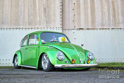 Photograph - 1966 Custom Green Beetle by Tim Gainey