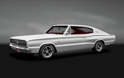 Photograph - 1966 Dodge Charger  -  1966dodgechargerfastbackgray184454 by Frank J Benz